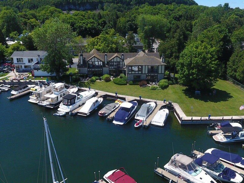 Harbor Guest House Aerial View