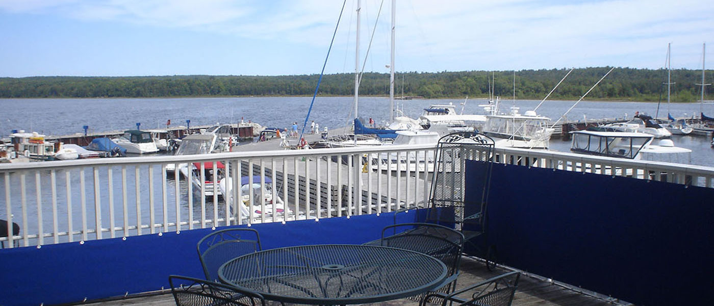 boat house deck view